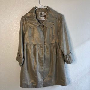 Kensie Metallic Gold Jacket Cost 6